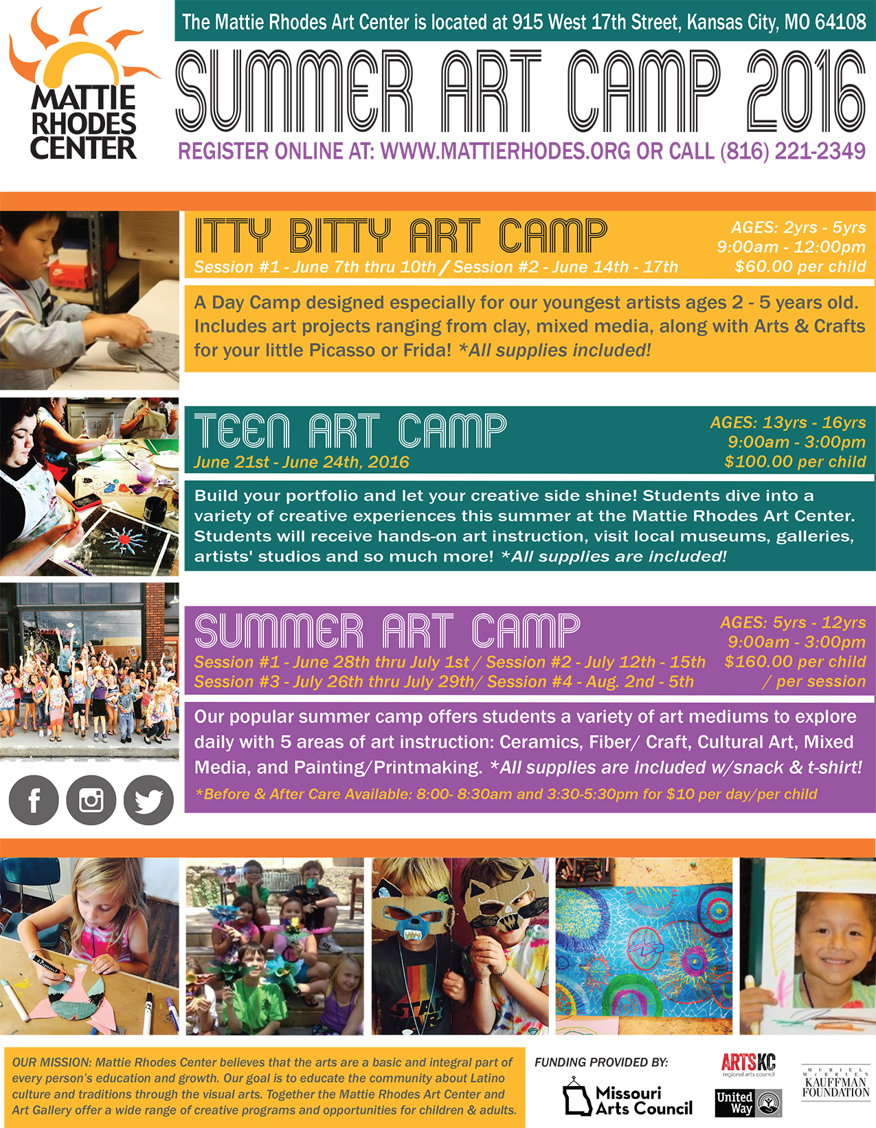Summer Art Camp Flyer 2016-REVISED 04052016