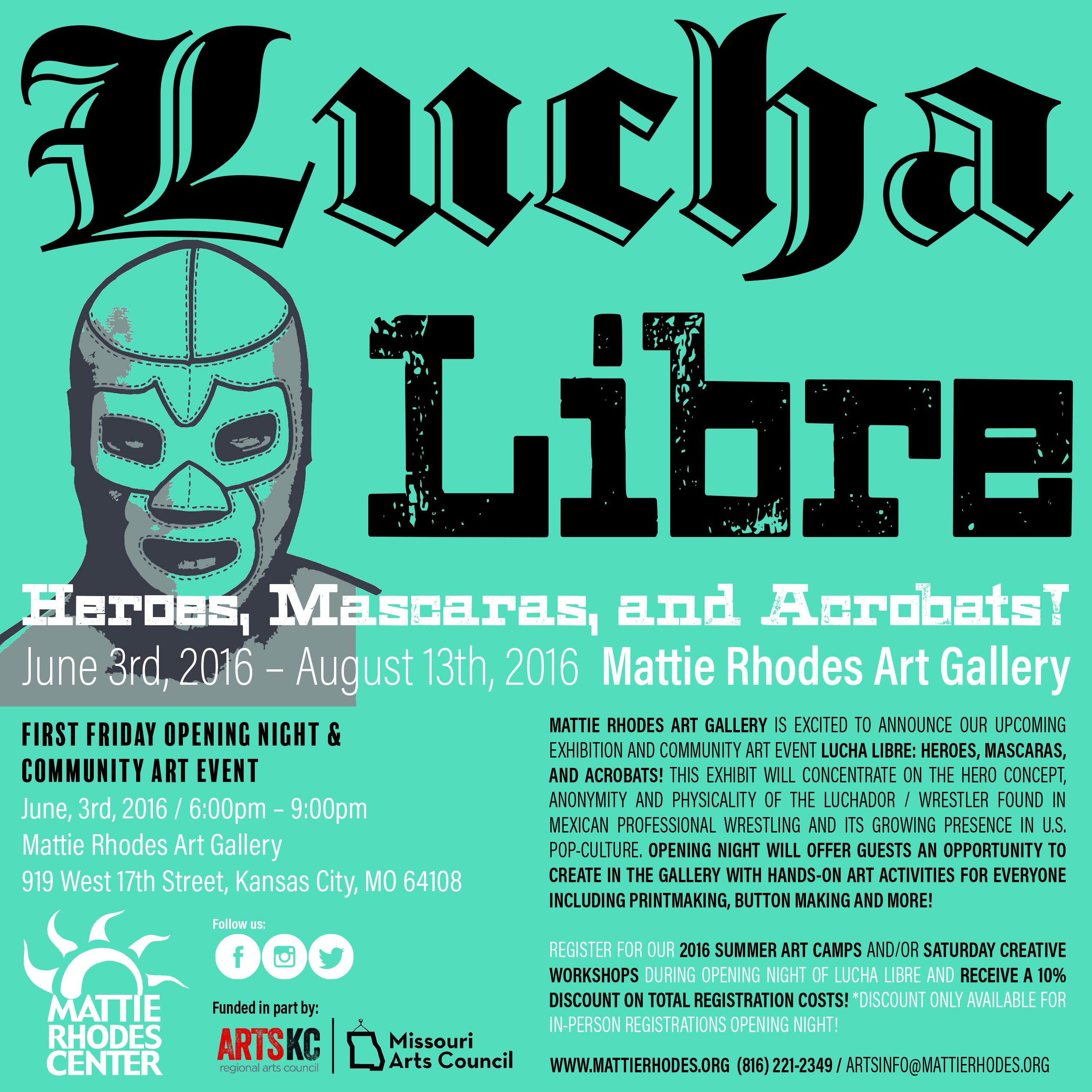 Mattie Rhodes Lucha Libre Exhibit